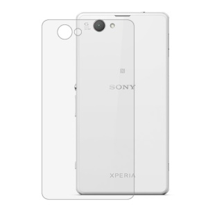 Tempered Glass Rear Film 0.3mm for Sony Xperia Z1 Compact D5503 Arc Edge Anti-explosion