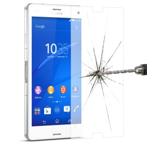 LINK DREAM Tempered Glass Screen Protector for Sony Xperia Z3 D6603 D6553, 2.5D Arc