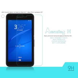 NILLKIN Tempered Glass Screen Film for Sony Xperia E4g / Dual Amazing H Nanometer Anti-Explosion