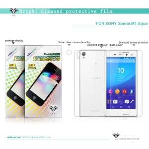 NILLKIN Bright Diamond Screen Protector for Sony Xperia M4 Aqua / M4 Aqua Dual