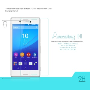 NILLKIN Tempered Glass Screen Film for Sony Xperia M4 Aqua / Aqua Dual Amazing H Nanometer Anti-Explosion