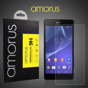AMORUS Arc Edge Tempered Glass Screen Protector for Sony Xperia Z2