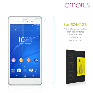 AMORUS Arc Edge Tempered Glass Screen Protector for Sony Xperia Z3