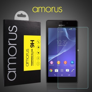 AMORUS Tempered Glass Screen Guard for Sony Xperia M2 D2303 / Dual D2302