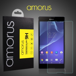 AMORUS Tempered Glass Screen Guard for Sony Xperia T2 Ultra D5303 / Dual D5322 Arc Edge