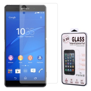 0.25mm Tempered Glass Back Cover Protector for Sony Xperia Z3+/Z3+ Dual Arc Edge