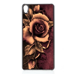 2D Heat Transfer Printing Aluminum Sheet Skin PC Hard Case for Sony Xperia E5 - Gothic Rose