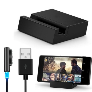 Magnetic Charging Dock Cradle + LED Magnetic USB Cable for Sony Xperia Z3 / Z3 Compact