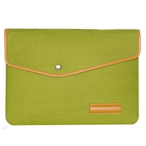 13-inch Woolen Felt Laptop Sleeve Bag Case For HP IBM MacBook Air / Pro, Size: 34 x 24 cm - Green