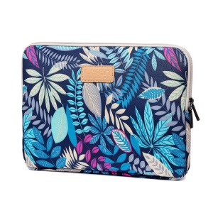 Colorful Leaves Zipper Closure Notebook Handbag for MacBook Air 11 Inch/HP DELL IBM, Size: 31 x 21.5 x 1.5 cm - Blue