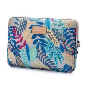 Colorful Leaves Laptop Sleeve Bag for MacBook Pro 13-inch (2016)/HP DELL IBM, Size: 34.5 x 24 x 1.5 cm - Grey
