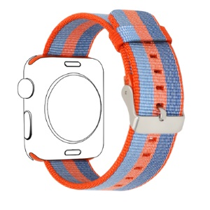 Nylon Sports Watch Strap for Apple Watch Series 4 44mm, Series 3 / 2 / 1 42mm - Blue/Red