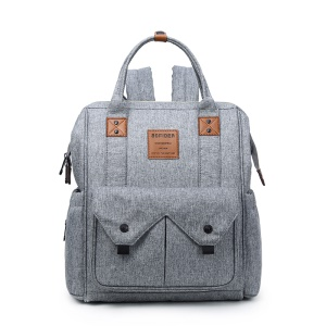 Mummy Maternity Nappy Diaper Backpack Large Capacity Baby Bag Travel Bag - Light Grey