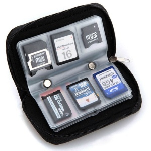 22-slot Memory Card Storage Carrying Pouch Wallet for CF/SD/SDHC/MS/DS