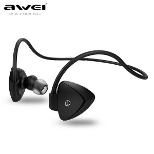 AWEI A840BL Wireless Sports Bluetooth 4.0 In-ear Earphone Headset with Mic NFC - Black