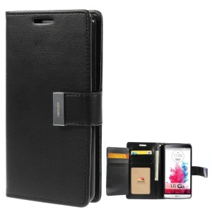 Mercury GOOSPERY Rich Diary Leather Wallet Case for LG G3 F400 - Black