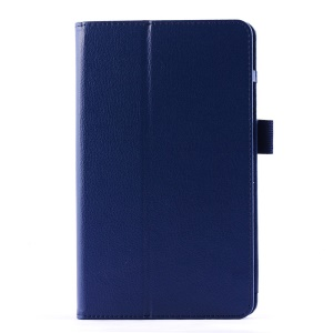 Lychee Texture Folio PU Leather Case Stand for LG G Pad 8.0 V480 - Dark Blue