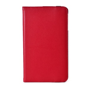 360 Swivel Stand Lychee Texture PU Leather Protective Case for LG G Pad 8.0 V480 - Red