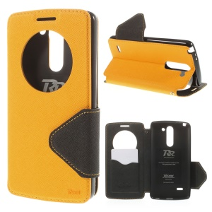 ROAR KOREA Diary View Window for LG G3 Stylus D690N D690 Leather Magnetic Case w/ Stand - Yellow