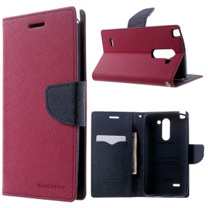 MERCURY Goospery Fancy Diary for LG G3 Stylus D690N D690 Stand Leather Magnetic Cover - Rose