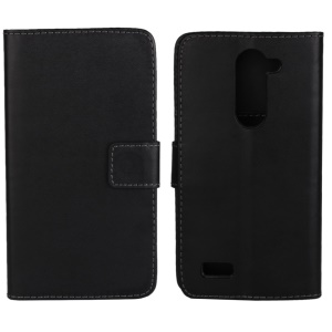 For LG L Bello D335 D331 Leather Wallet Case w/ Stand - Black