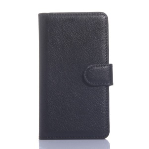 Lychee Texture Wallet Stand Leather Case for LG L Bello D331 D335 - Black