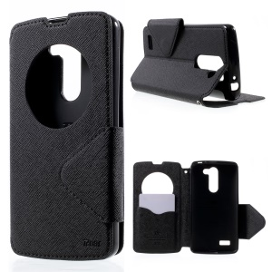 ROAR KOREA for LG L Bello D331 D335 Diary View Window Leather Stand Case - Black