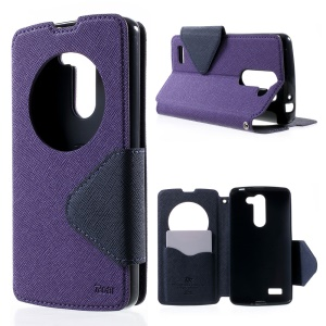 ROAR KOREA for LG L Bello D331 D335 Diary View Window Leather Stand Cover - Purple