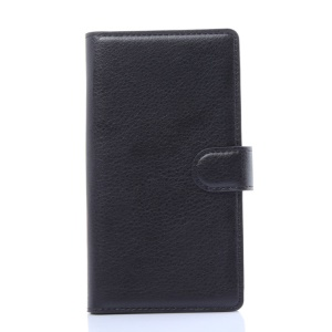 Litchi Skin Card Holder Leather Case for LG G Flex2 F510L - Black