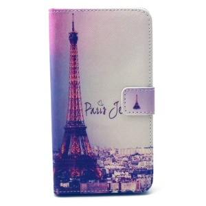Wallet Leather Case for LG G4 with Stand - Eiffel Tower