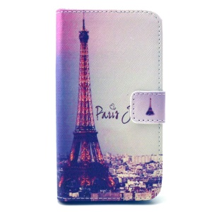 Eiffel Tower Leather Stand Wallet Cover for LG L90 D405 D405N