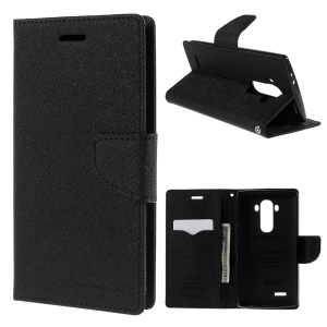 MERCURY GOOSPERY Leather Card Slots Case for LG G4 with Stand - Black