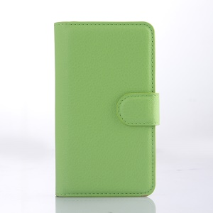 Green for LG Joy H220 Litchi Grain Leather Wallet Cover