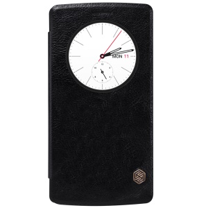 NILLKIN Qin Series Leather Case View Window for LG G4 - Black