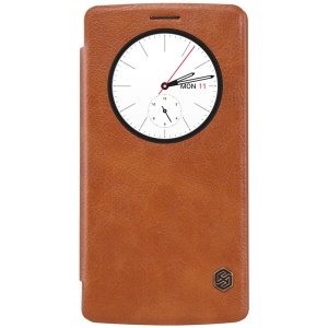 NILLKIN Qin Series Leather Case View Window for LG G4 - Brown