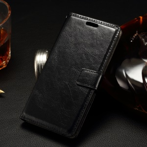 Stitching Wallet Leather Case for LG Spirit H440Y H420 H440N with Stand - Black