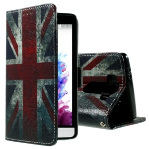 Callfree PU Leather Wallet Case for LG G3 S D722 / Beat D724 / Vigor D725 - Vintage UK Flag