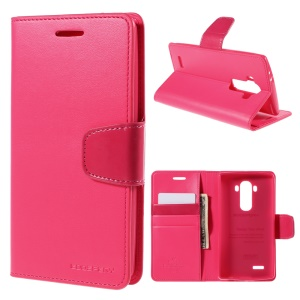 MERCURY GOOSPERY Sonata Diary Wallet Leather Stand Cover for LG G4 - Rose