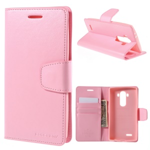 MERCURY GOOSPERY Sonata Diary Wallet Leather Stand Case for LG G4 - Pink