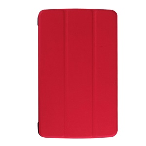 Textured Stand PU Leather Shell for LG G Pad F 8.0 - Red