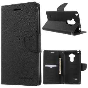 MERCURY Goospery Leather Stand Cover for LG G4 Stylus - Black