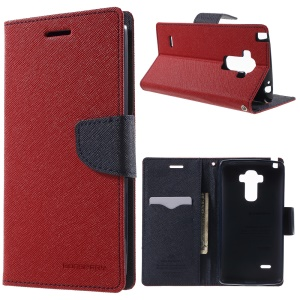 MERCURY Goospery Leather Stand Cover for LG G4 Stylus - Red