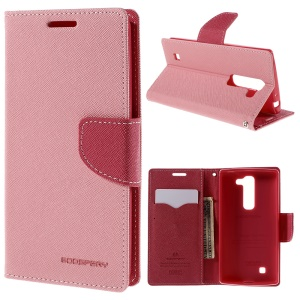 MERCURY Goospery Wallet Leather Cover for LG Magna H502F H500F / G4c H525N - Pink
