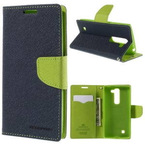 MERCURY Goospery Leather Wallet Case for LG Magna H502F H500F / G4c H525N - Dark Blue