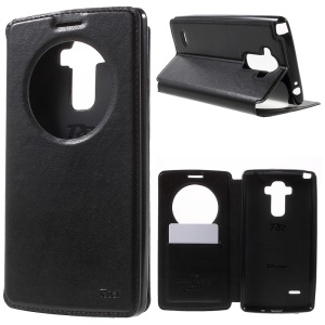 ROAR KOREA Noble Window View Leather Stand Case for LG G4 Stylus - Black