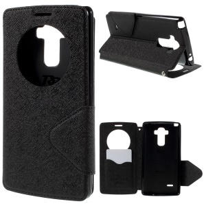 ROAR KOREA Diary View Window for LG G4 Stylus Leather Stand Case - Black