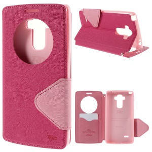 ROAR KOREA Diary View Window for LG G4 Stylus Leather Stand Case - Rose