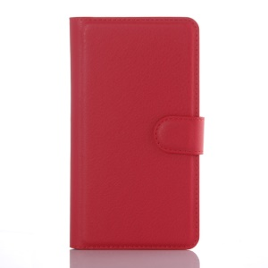 Litchi Skin Leather Wallet Case Cover for LG G4 Beat G4s G4 s - Red