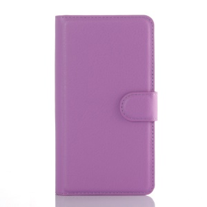 Litchi Skin Wallet Leather Stand Case for LG G4 Beat G4s G4 s - Purple