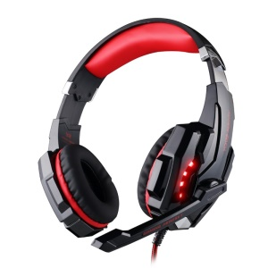 KOTION EACH G9000 Over-Ear 3.5mm Stereo Gaming Headphone with Mic LED Light for Cellphone/PC/PS4 - Red
